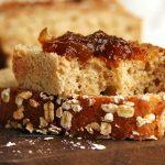 Pão de aveia fit com 5 ingredientes sem glúten, sem ovo, sem leite, vegano