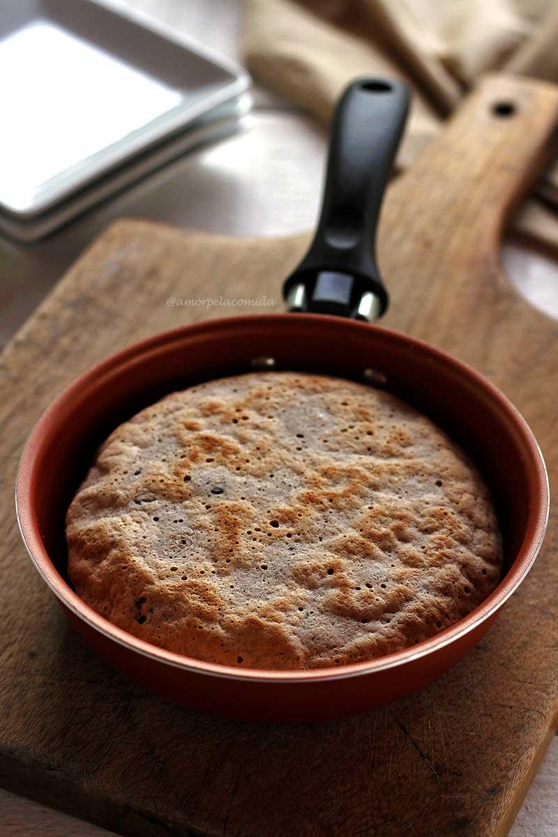 Pão de Aveia Fit de frigideira integral muito rápido e prático!