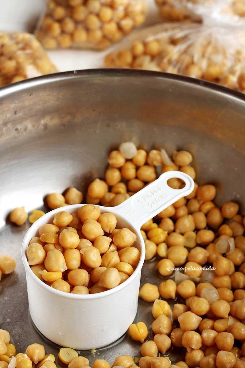 Como cozinhar grão de bico com benefícios para saúde. Método infalível com e sem pressão!