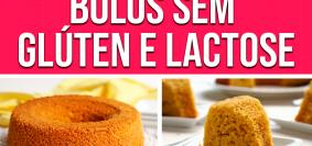 Montagem com 6 fotos de bolos sem glúten e lactose